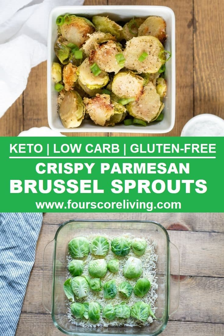 Crispy, Parmesan Roasted Brussels Sprouts that taste incredible, are simple to make, and are ready in four easy steps. This Brussels Sprouts recipe is naturally low carb, keto, gluten-free, sugar-free, and nut-free.