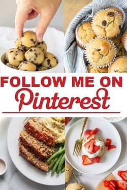 a pinterest pin with the words Follow Me On Pinterest in text in the center