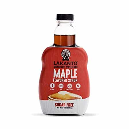 Lakanto Maple Flavored Sugar-Free Syrup, 1 Net Carb, Maple Syrup, 13 Fl. Oz (Pack of 1)