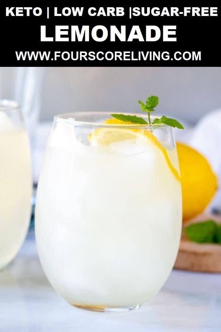 Easy Keto Lemonade using three ingredients. You're going to love this fresh sweet and tart low carb lemonade.