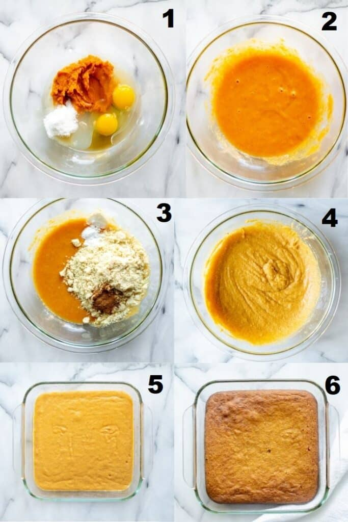 steps on how to make keto pumpkin bars