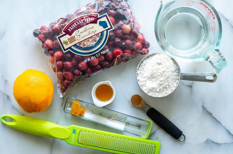 Ingredients in Keto Cranberry Sauce