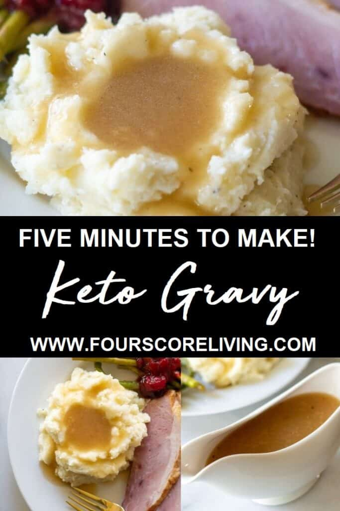keto gravy pinterest pin picture collage
