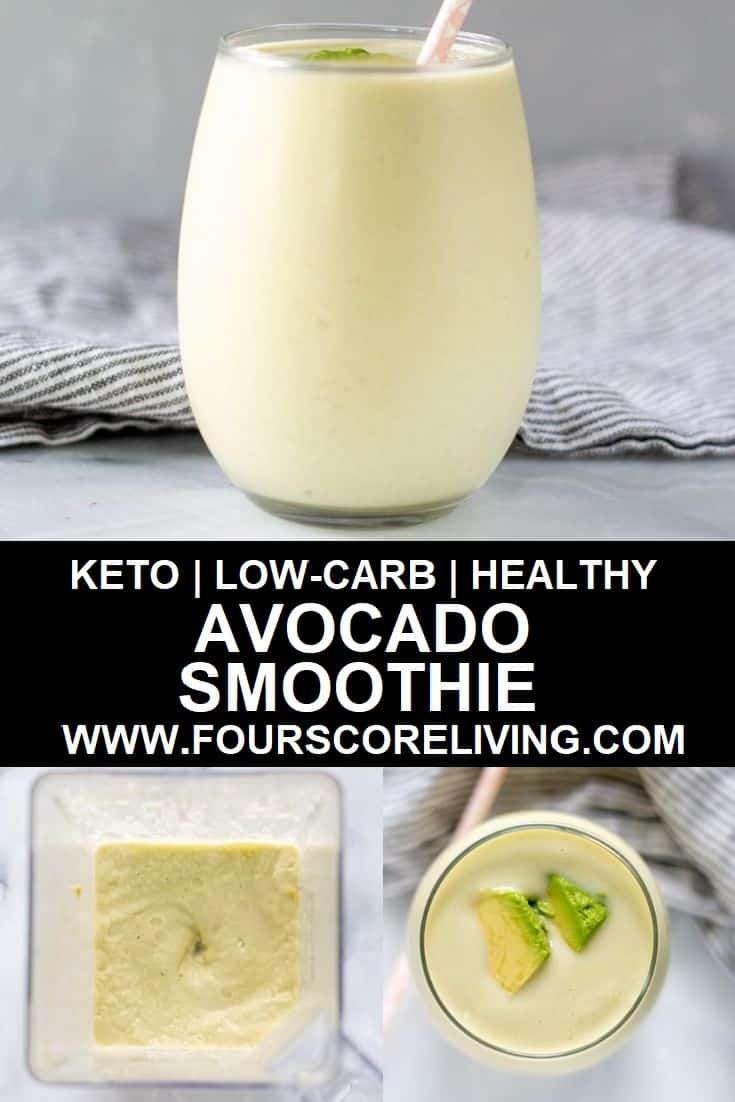 keto avocado smoothie pinterest pin collage