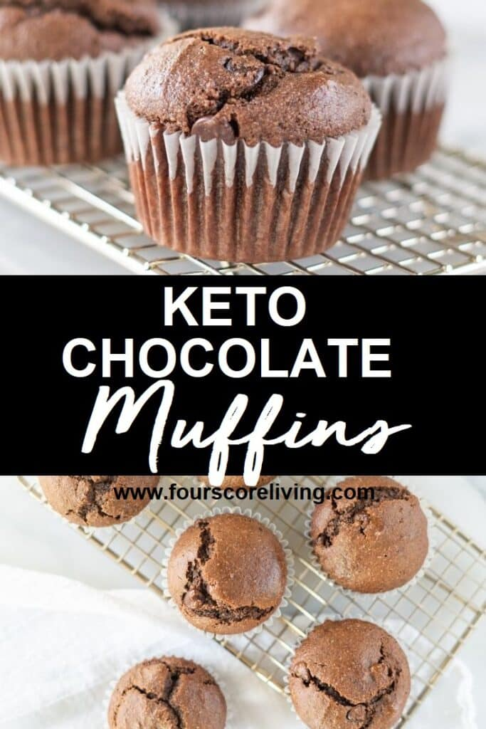 keto chocolate muffin pinterest pin collage