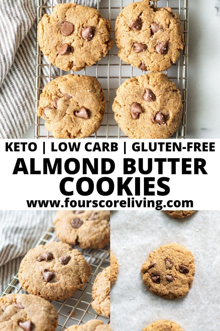 almond butter cookies pinterest pin collage