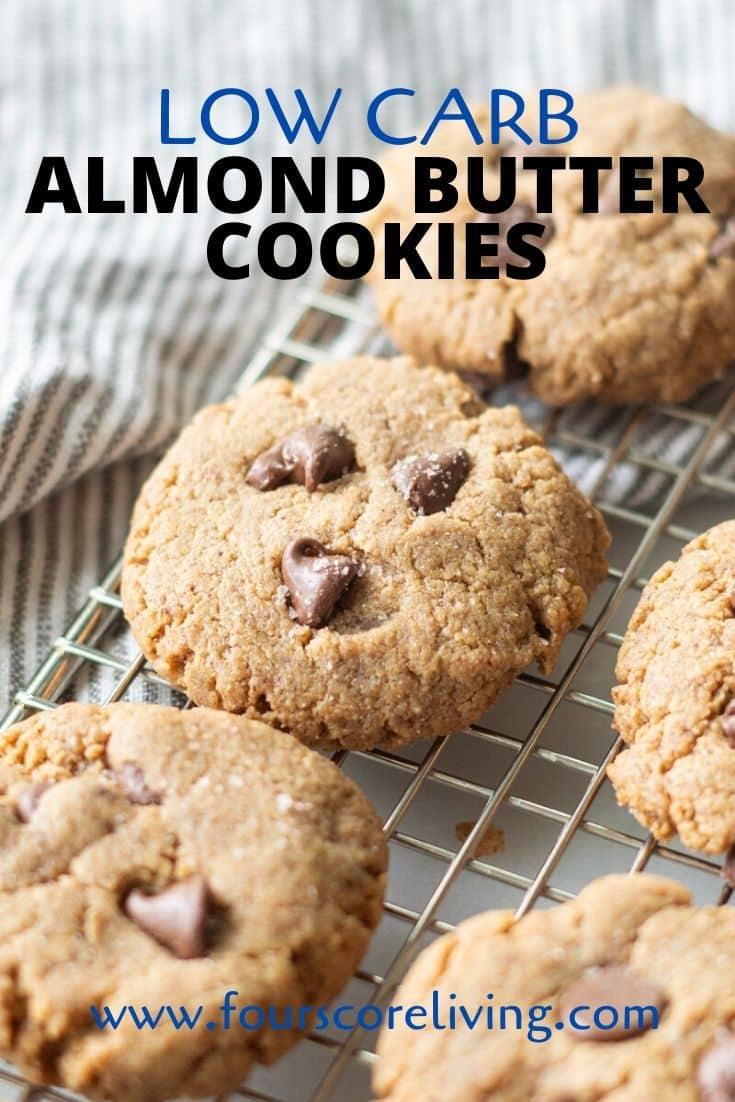 keto almond butter cookies pinterest pin
