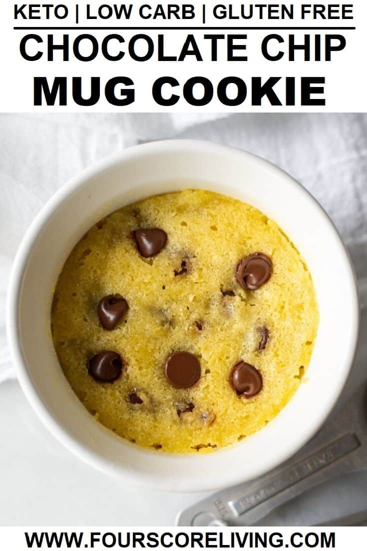 keto chocolate chip mug cookie pinterest pin