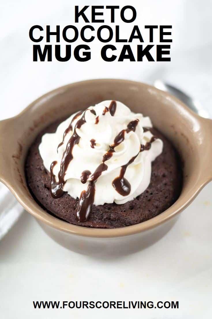 keto chocolate mug cake pinterest pin