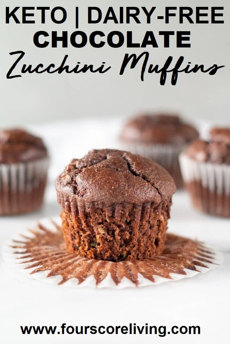 keto chocolate zucchini muffins pinterest pin