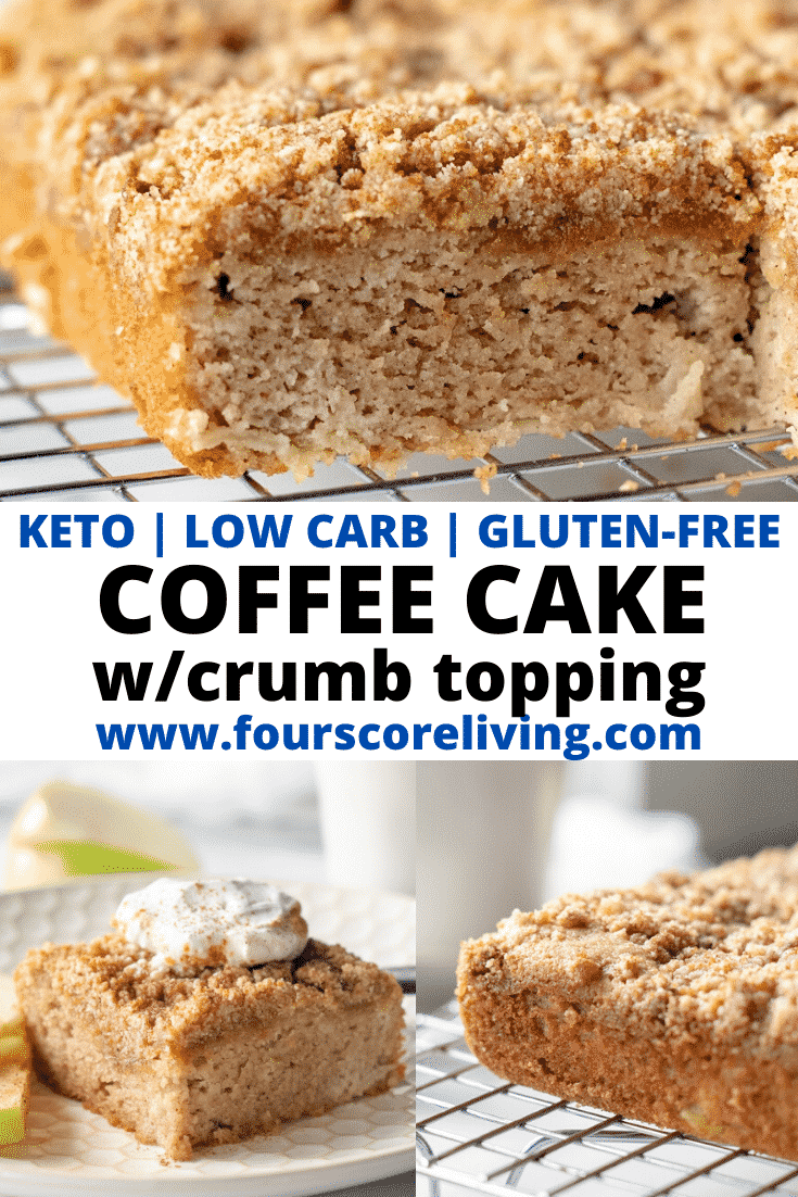 keto coffee cake pinterest pin collage
