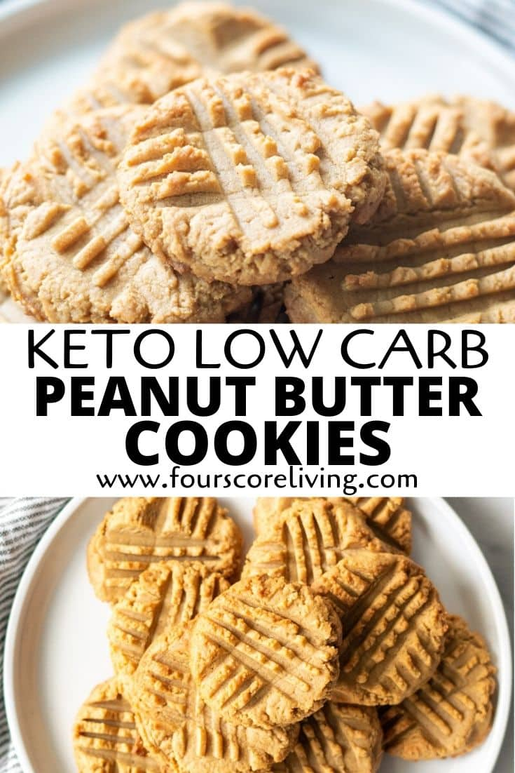 keto peanut butter cookies pinterest pin
