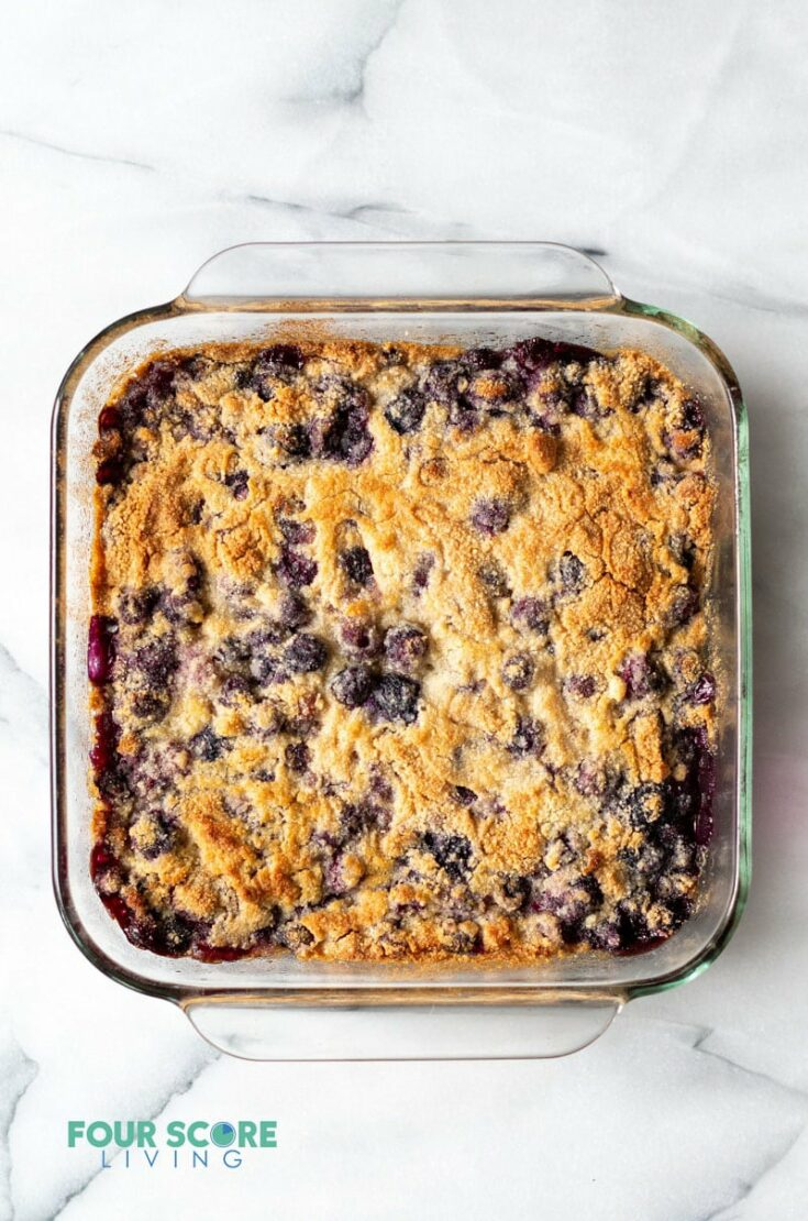 Low Carb Blueberry Dump Cake