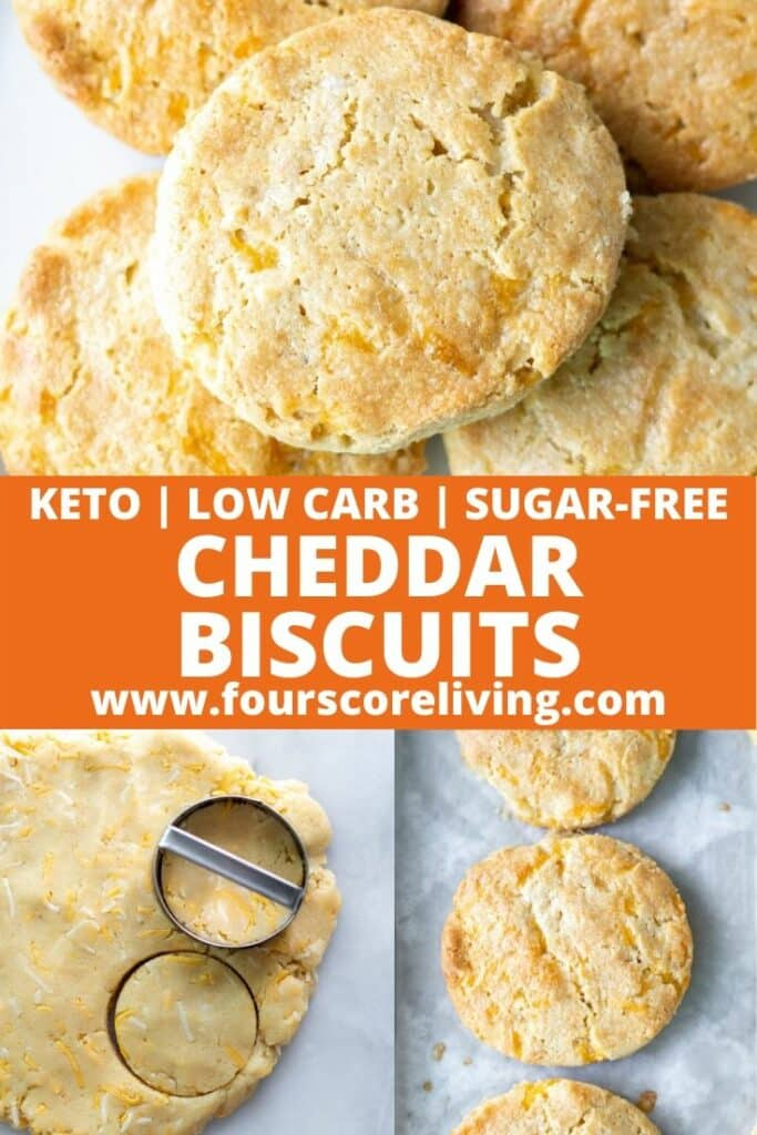 pinterest pin for keto cheddar biscuits