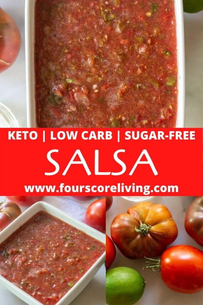 pinterest pin for keto salsa