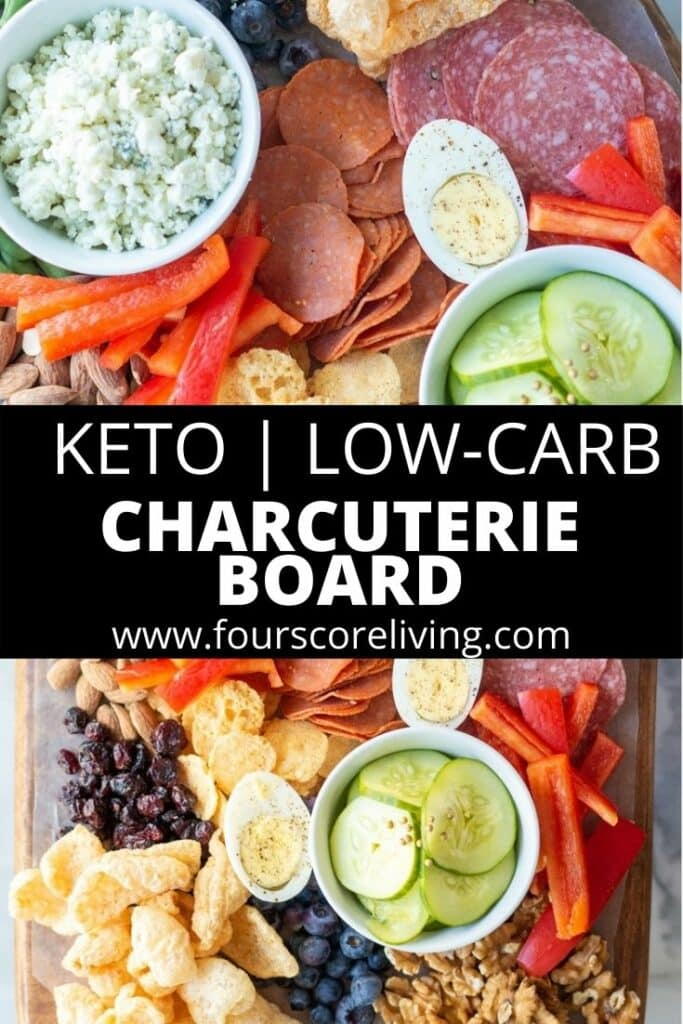 keto charcuterie board pinterest pin collage