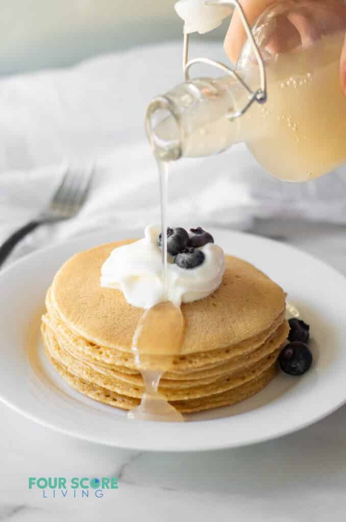 keto pancakes with keto pancake syrup