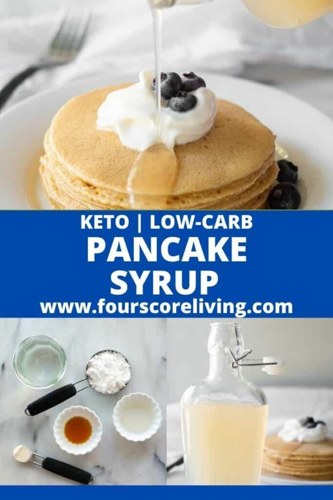 Keto Pancake Syrup Pinterest Pin Collage